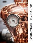 fragment of copper alembic for... | Shutterstock . vector #1196158735