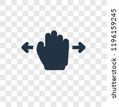 hand move vector icon isolated...