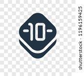 ten vector icon isolated on...