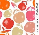 elegant apples seamless pattern.... | Shutterstock .eps vector #1196165062