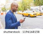 young black man in new york... | Shutterstock . vector #1196168158