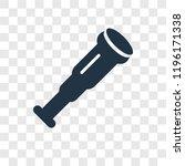 antique telescope vector icon... | Shutterstock .eps vector #1196171338
