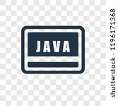 java vector icon isolated on... | Shutterstock .eps vector #1196171368