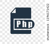php vector icon isolated on... | Shutterstock .eps vector #1196171422