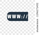 www vector icon isolated on... | Shutterstock .eps vector #1196171452