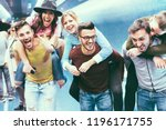 group of friends having fun in...   Shutterstock . vector #1196171755