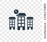 skyscraper vector icon isolated ... | Shutterstock .eps vector #1196172805