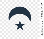 crescent moon and star vector... | Shutterstock .eps vector #1196173102