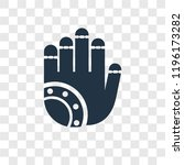 henna painted hand vector icon... | Shutterstock .eps vector #1196173282
