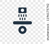 gravity vector icon isolated on ... | Shutterstock .eps vector #1196175742