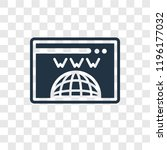 domain registration vector icon ... | Shutterstock .eps vector #1196177032