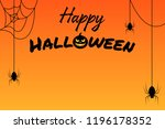 happy halloween banner with... | Shutterstock .eps vector #1196178352