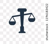 balance vector icon isolated on ... | Shutterstock .eps vector #1196183422