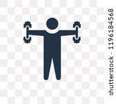 dumbbells exercise vector icon... | Shutterstock .eps vector #1196184568