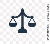 balance vector icon isolated on ... | Shutterstock .eps vector #1196184658