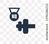 dumbbell vector icon isolated... | Shutterstock .eps vector #1196186212