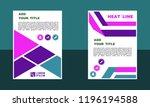brochure template layout  book...   Shutterstock .eps vector #1196194588