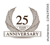 25 years design template. 25th... | Shutterstock .eps vector #1196195545