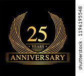 25 years design template. 25th... | Shutterstock .eps vector #1196195548