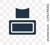 tissues vector icon isolated on ... | Shutterstock .eps vector #1196198302