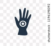 henna painted hand vector icon... | Shutterstock .eps vector #1196198392