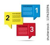 abstract 3d speech bubble... | Shutterstock .eps vector #119620096