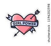 girl power heart feminism quote.... | Shutterstock .eps vector #1196202598