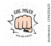 girl power quote with female... | Shutterstock .eps vector #1196202625