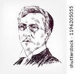 vasily kandinsky vector sketch... | Shutterstock .eps vector #1196205055
