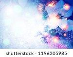 christmas bokeh background  | Shutterstock . vector #1196205985