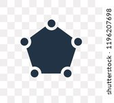 pentagon vector icon isolated... | Shutterstock .eps vector #1196207698