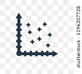 scatter vector icon isolated on ...   Shutterstock .eps vector #1196207728