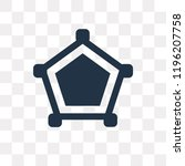 cobweb vector icon isolated on... | Shutterstock .eps vector #1196207758