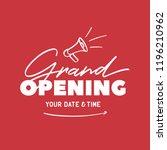 grand opening template  banner  ... | Shutterstock .eps vector #1196210962