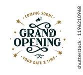 grand opening template  banner  ... | Shutterstock .eps vector #1196210968