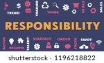 responsibility panoramic banner ... | Shutterstock . vector #1196218822