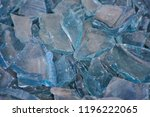 blue broken glass shards | Shutterstock . vector #1196222065
