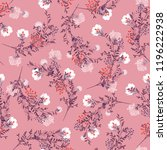 sweet retro seamless pattern ... | Shutterstock .eps vector #1196222938