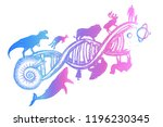 evolution tattoo.  symbol of... | Shutterstock .eps vector #1196230345