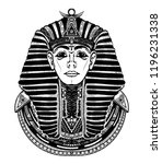 pharaoh tattoo art graphic  t... | Shutterstock .eps vector #1196231338