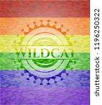 wildcat lgbt colors emblem  | Shutterstock .eps vector #1196250322