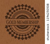 gold membership wood icon or... | Shutterstock .eps vector #1196250508