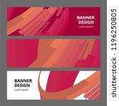 abstract modern banner... | Shutterstock .eps vector #1196250805