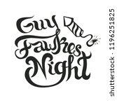 bonfire night invitation flyer... | Shutterstock .eps vector #1196251825