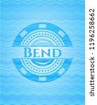 bend water wave concept emblem.   Shutterstock .eps vector #1196258662