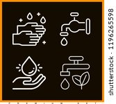 set of 4 water outline icons... | Shutterstock . vector #1196265598