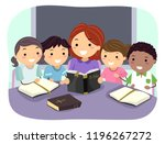 illustration of stickman kids... | Shutterstock .eps vector #1196267272