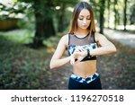 waist up portrait of a young...   Shutterstock . vector #1196270518