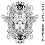 vector hand drawn illustration... | Shutterstock .eps vector #1196272165