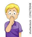 illustration of a worried kid... | Shutterstock .eps vector #1196278348
